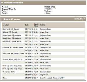 UPS TRacking IPad Cover