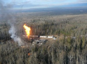 Gas well out of control North BC