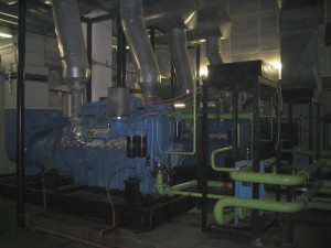 The basement- well maintained and running Genset